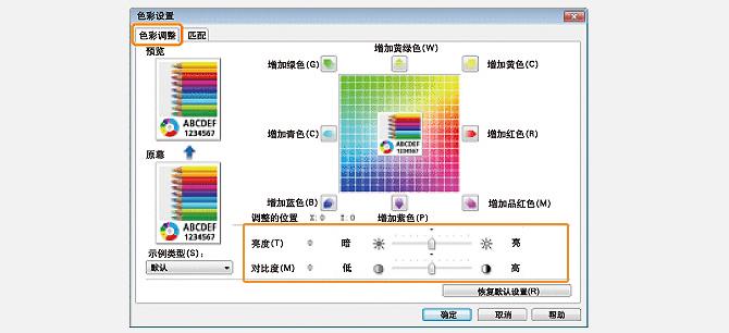 色彩明度/对比度调节