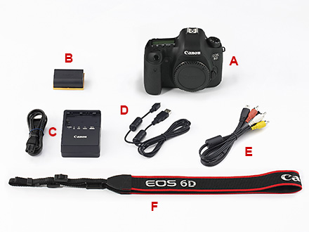 EOS 6D机身附件图