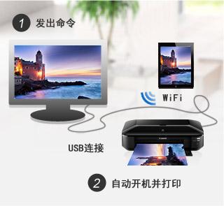 自动电源开启(通过Wi-Fi & USB)