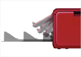 操作面板可按需倾斜,出纸托盘自动伸缩