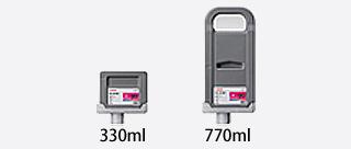 同时也适用于330ml和700ml两种大容量墨水盒
